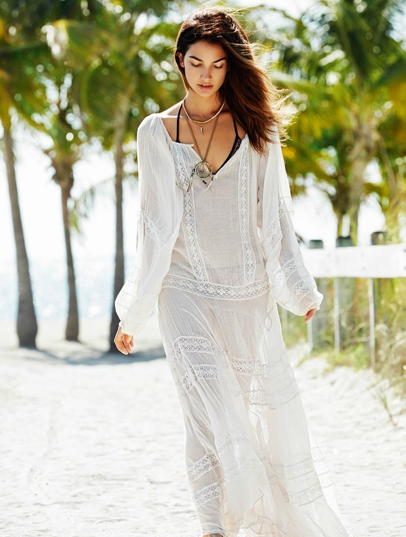lily aldridge derek kettela 15 Lily Aldridge Wears Bohemian Style for Glamour France by Derek Kettela