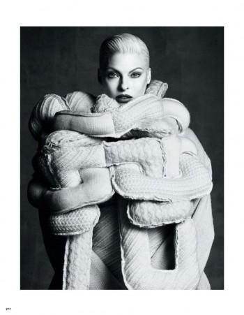 Linda Evangelista Wears Comme des Garçons Designs for Vogue Japan by Luigi + Iango