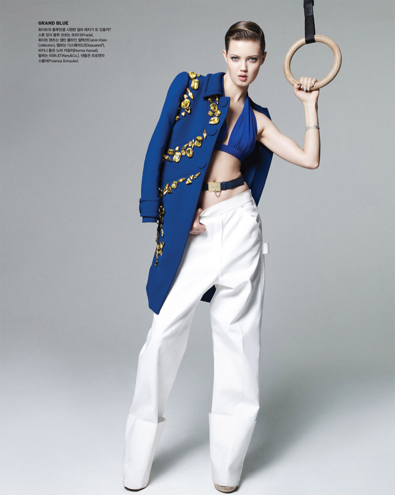 lindsey wixson nagi sakai11 Lindsey Wixson Works it Out for Vogue Korea Shoot by Nagi Sakai
