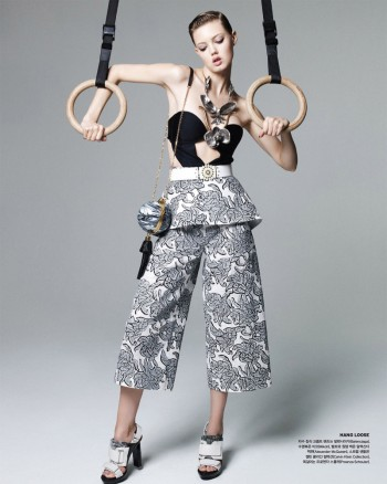 Lindsey Wixson Works it Out for Vogue Korea Shoot by Nagi Sakai
