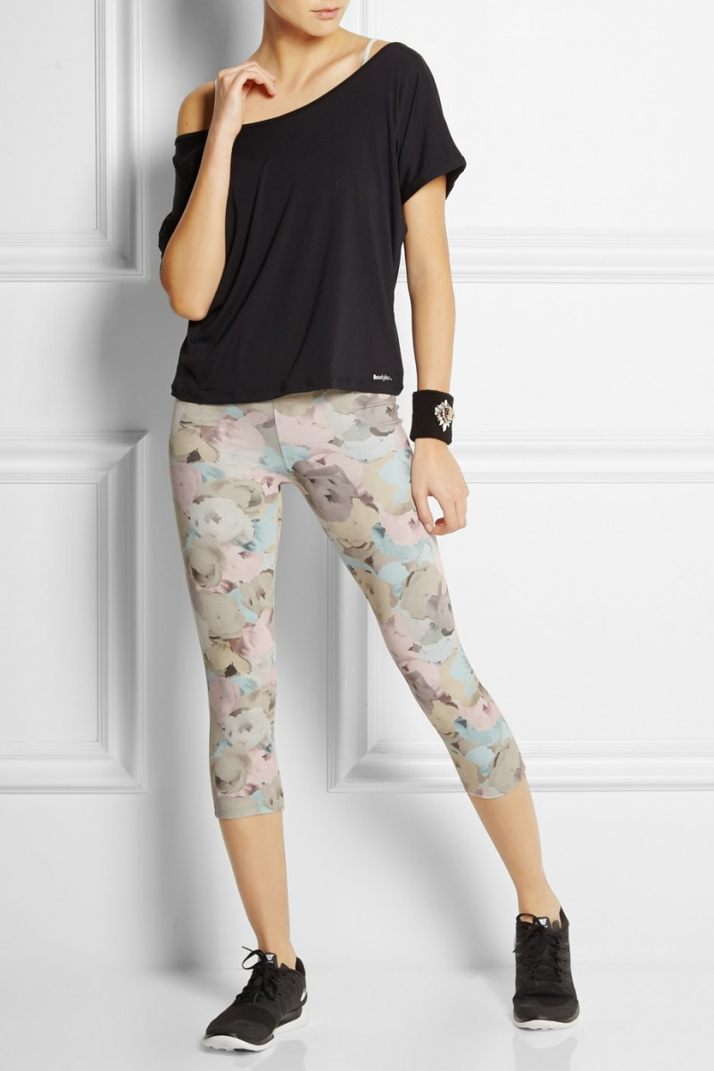 Live the Process Floral-print stretch-jersey leggings available at Net-a-Porter for $135.00
