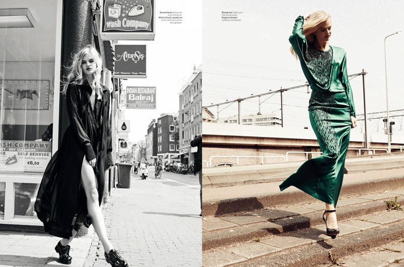 lofficiel washing laundromat fashion shoot5 Milou Sluis & Isabel Scholten Go to the Laundromat for LOfficiel Netherlands