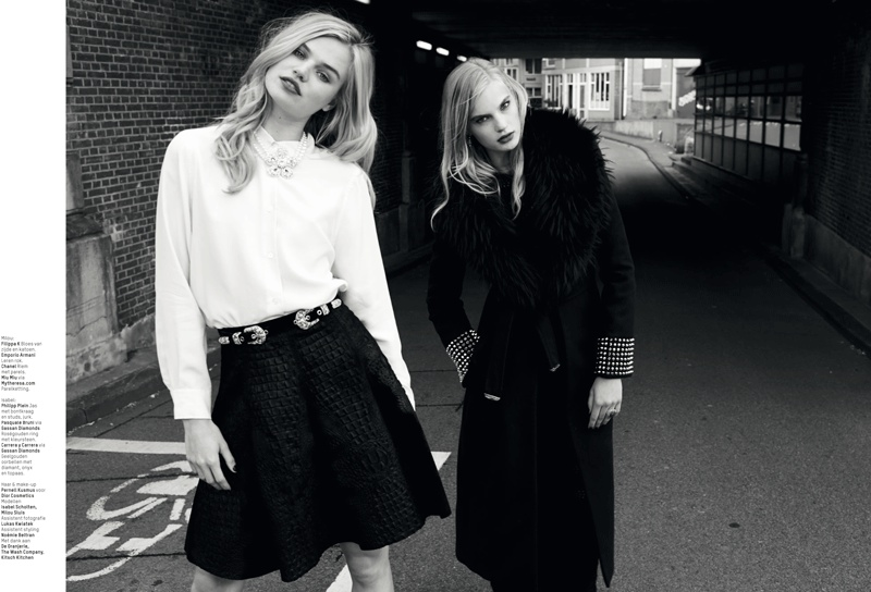 lofficiel washing laundromat fashion shoot8 Milou Sluis & Isabel Scholten Go to the Laundromat for LOfficiel Netherlands