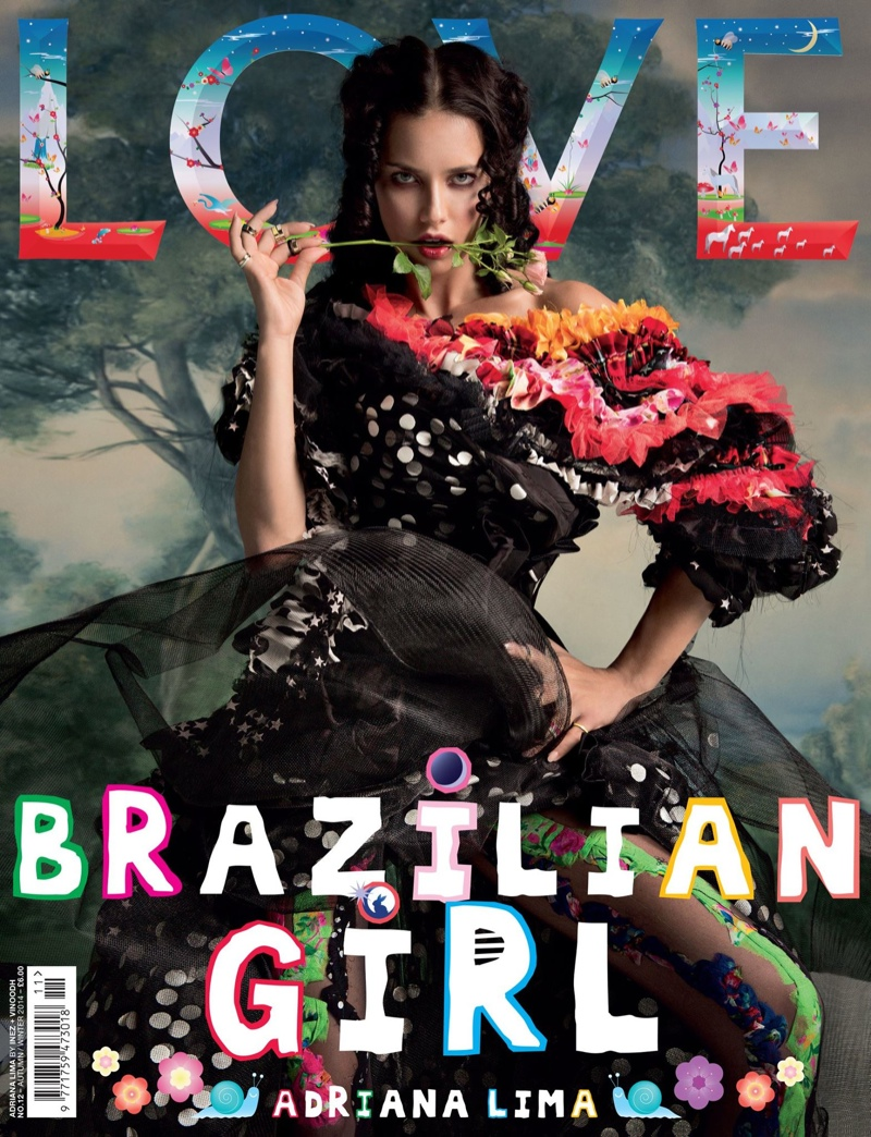 love magazine fw 2014 covers4 Adriana Lima, Kendall Jenner + Amy Adams Cover LOVE F/W 2014