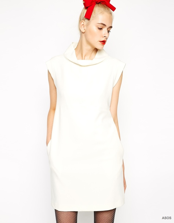 Love Moschino Cream Shift Dress available at ASOS for $276.28