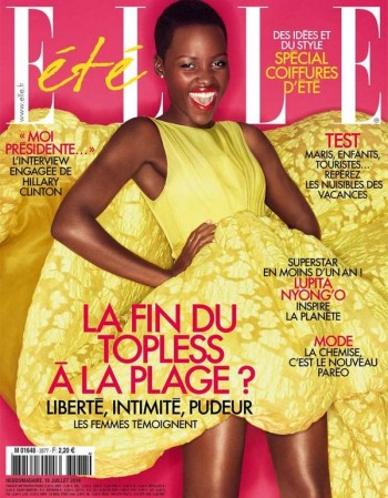 Lupita Nyong'o is Radiant in Giambattista Valli for Elle France Cover