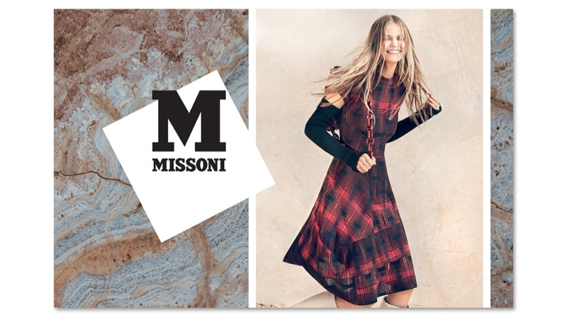 m missoni 2014 fall winter campaign5 Kate G. is All Smiles for M Missoni's Fall 2014 Campaign