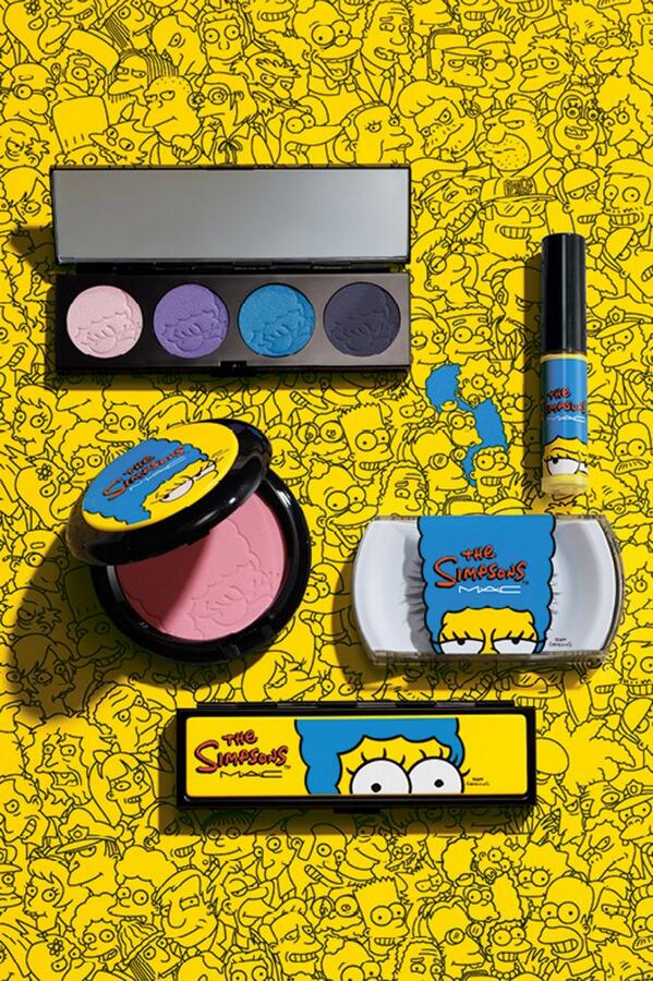 mac marge simpson makeup First Look at MAC Cosmetics Simpsons Collaboration + Comic Con Reveal