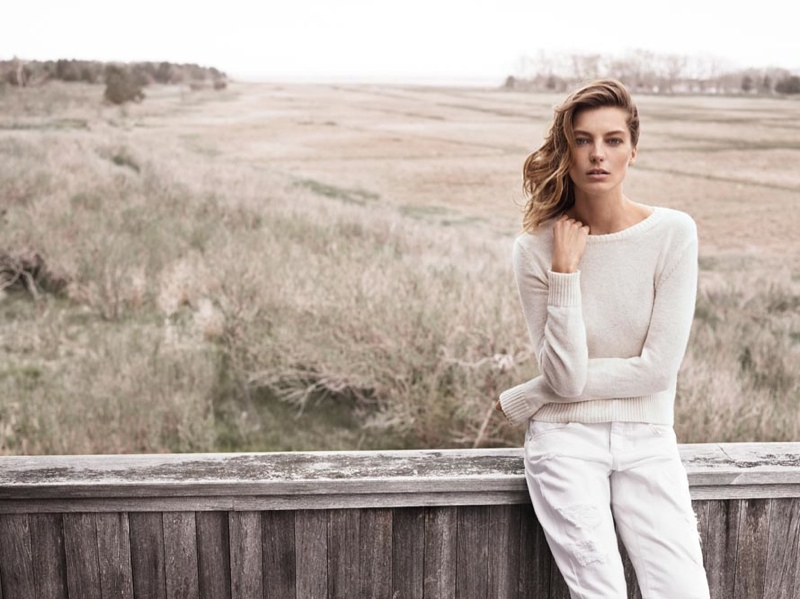 mango 2014 fall winter campaign1 Daria Werbowy is Back for Mango's Fall/Winter 2014 Campaign!