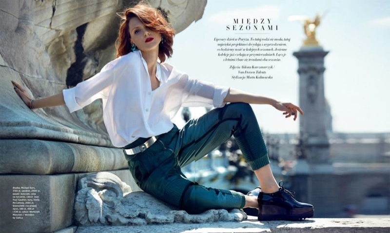 maria loks photos1 Maria Loks Poses for Aldona Karczmarczyk in Bazaar Poland Shoot