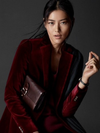 Liu Wen Poses for Massimo Dutti's Equestrian Fall 2014 Campaign