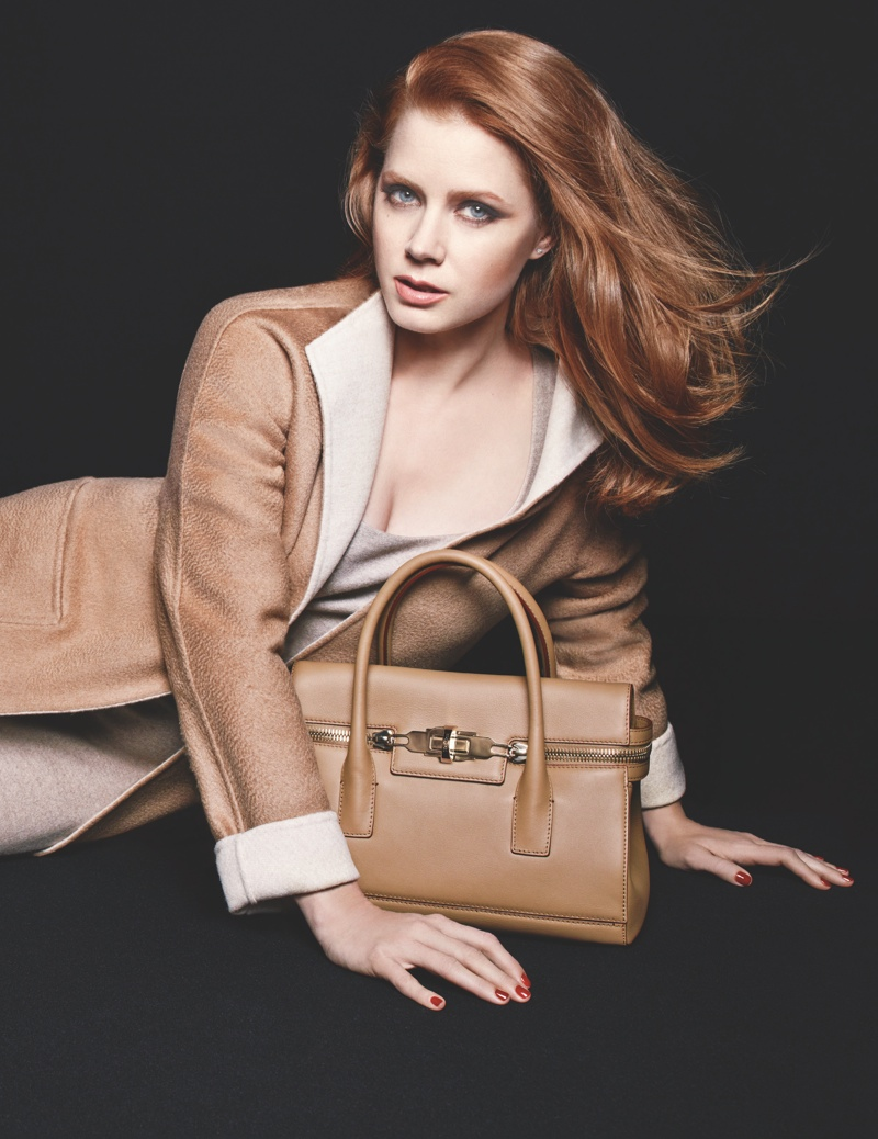 max mara amy adams 2014 ads3 More Photos of Amy Adams for Max Maras Accessories Campaign