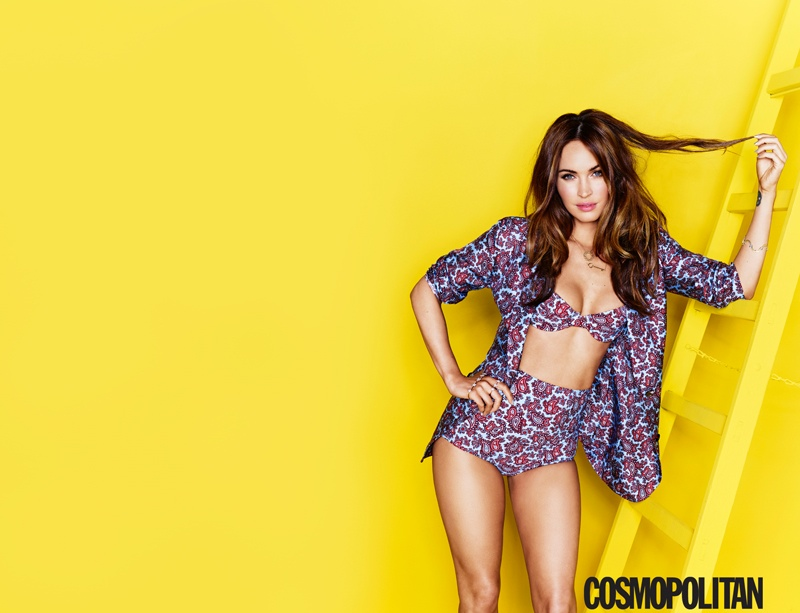 megan fox cosmopolitan 2014 2 Megan Fox is Ready for Summer on Cosmopolitan August 2014 Cover
