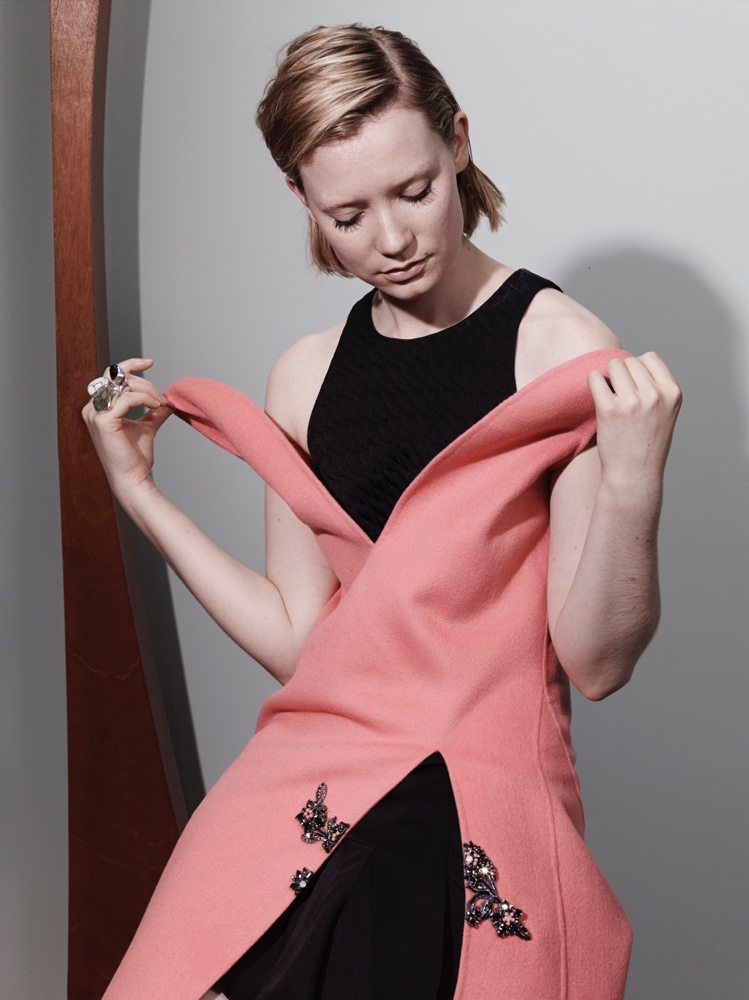 mia wasikowska 2014 2 Mia Wasikowska Stars in Interview Magazines August Issue