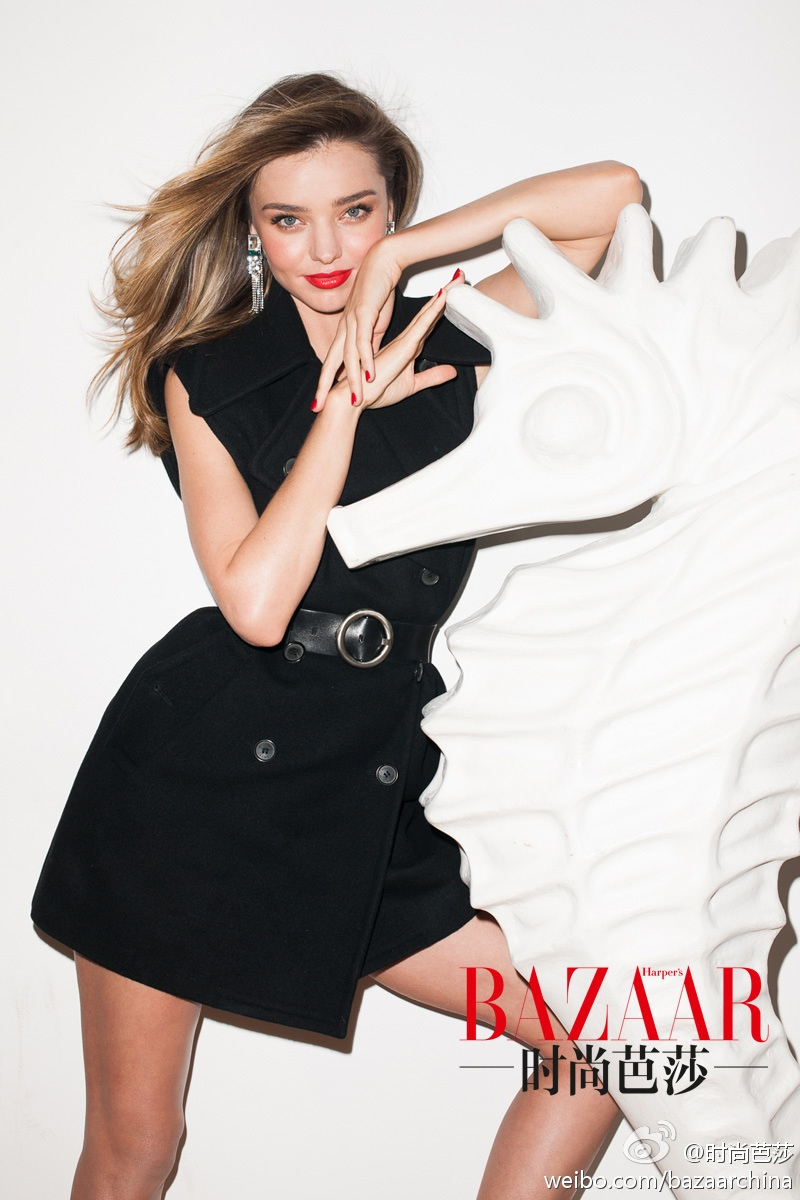Miranda Kerr Poses for Terry Richardson in Bazaar China Cover Shoot