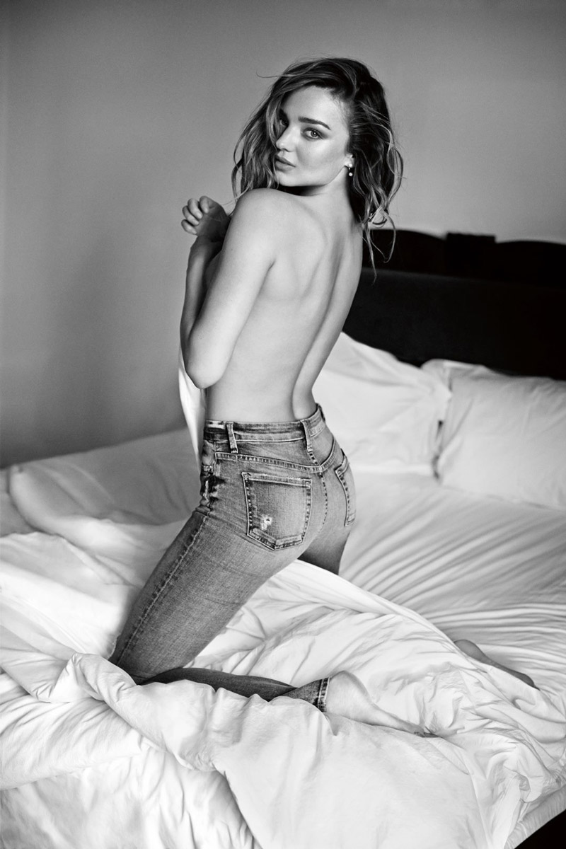 miranda kerr topless 7 all mankind fall 2014 ad Miranda Kerr Goes Topless for 7 for All Mankind Fall 14 Campaign