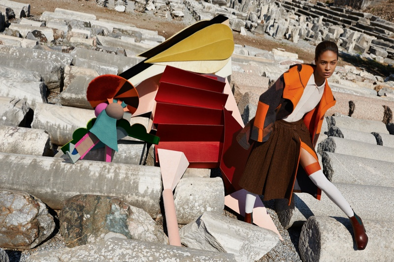 missoni 2014 fall winter campaign1 Missoni Enlists Joan Smalls for Surreal Fall 2014 Campaign