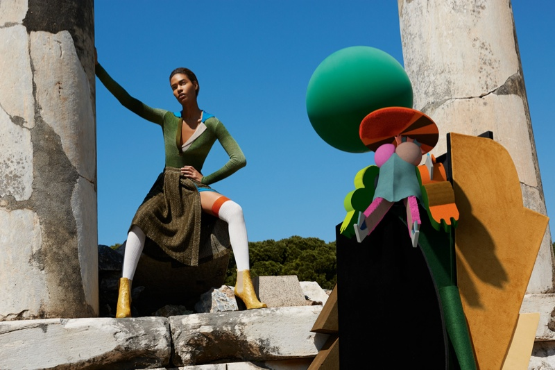 missoni 2014 fall winter campaign3 Missoni Enlists Joan Smalls for Surreal Fall 2014 Campaign