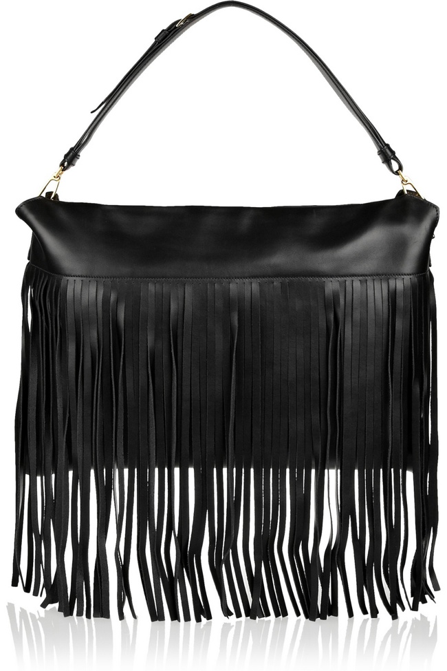 Miu Miu Fringed leather shoulder bag available at Net-a-Porter for $1,950.00