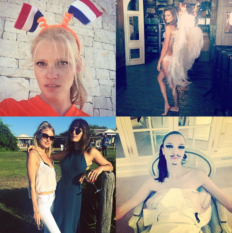 model instagrams july 11 Instagram Photos of the Week | Lara Stone, Mariacarla Boscono + More Models