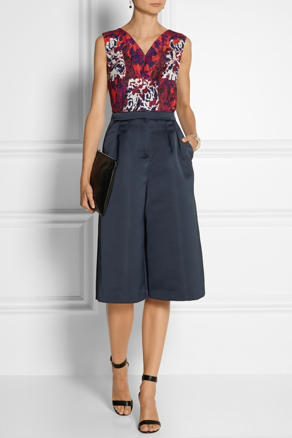 MSGM Duchess Satin Culottes available at Net-a-Porter for $385.00