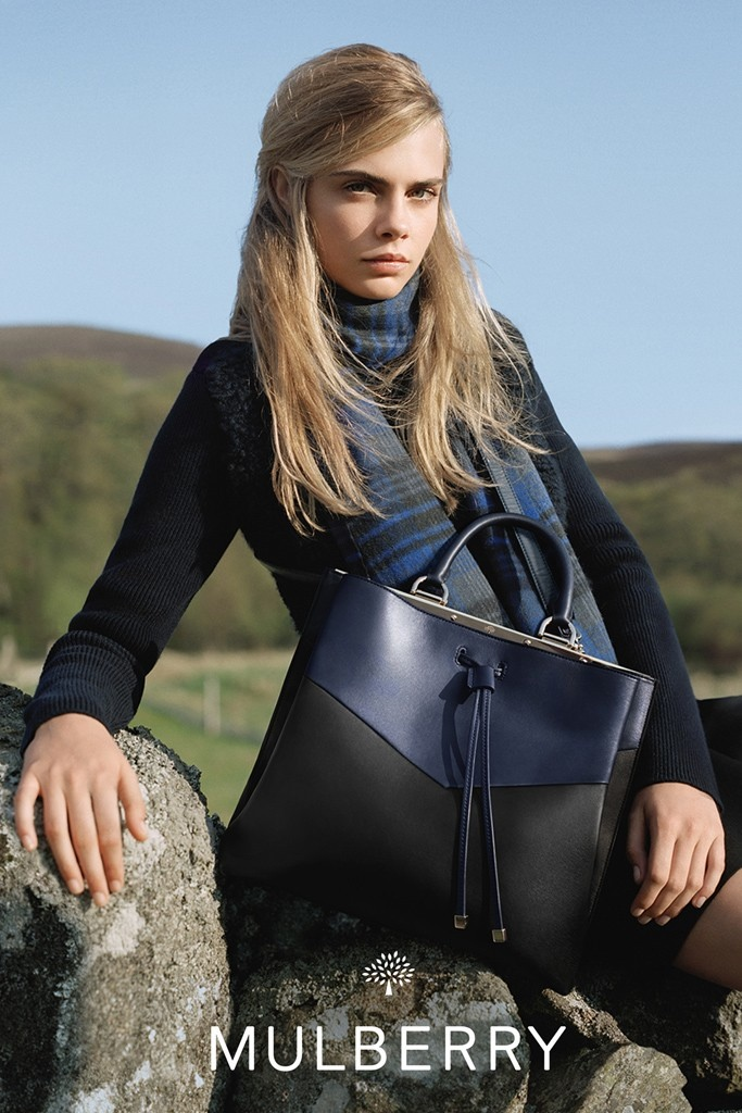 mulberry ad photos fall 2014 1 More Images from Cara Delevingnes Mulberry Ads Surface