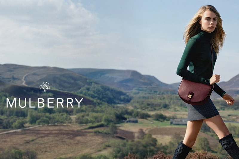 mulberry ad photos fall 2014 5 More Images from Cara Delevingnes Mulberry Ads Surface