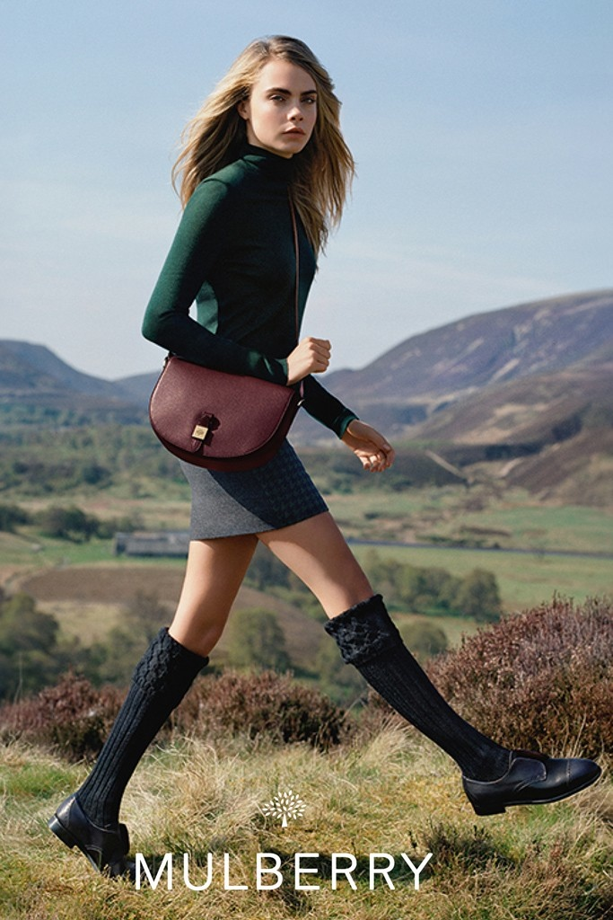 mulberry ad photos fall 2014 6 More Images from Cara Delevingnes Mulberry Ads Surface