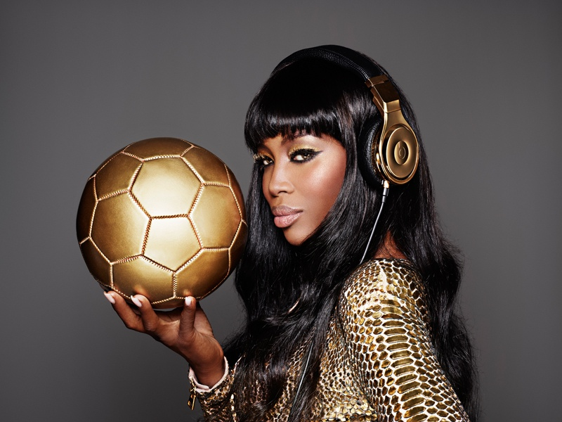 Naomi Campbell for Beats by Dre. Image Courtesy of Brand.