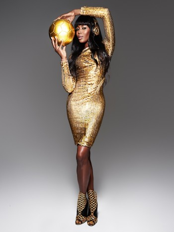 "Naomi Campbell Shines in Beats by Dre's ""Golden"" Shoot for the World Cup"