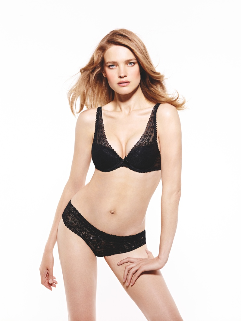 natalia vodianova etam lingerie sleepwear 2014 fall campaign2 Natalia Vodianova Stars in New Ads for Etams Fall 14 Lingerie Line