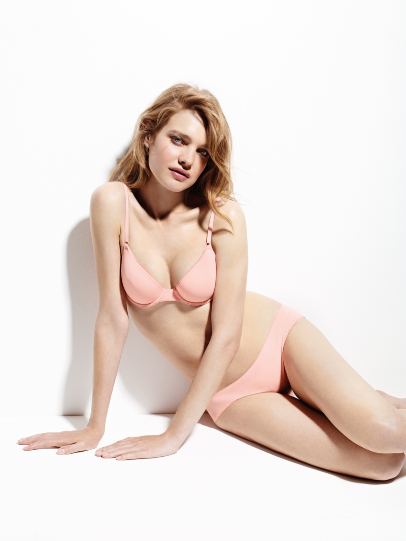 natalia vodianova etam lingerie sleepwear 2014 fall campaign5 Natalia Vodianova Stars in New Ads for Etams Fall 14 Lingerie Line