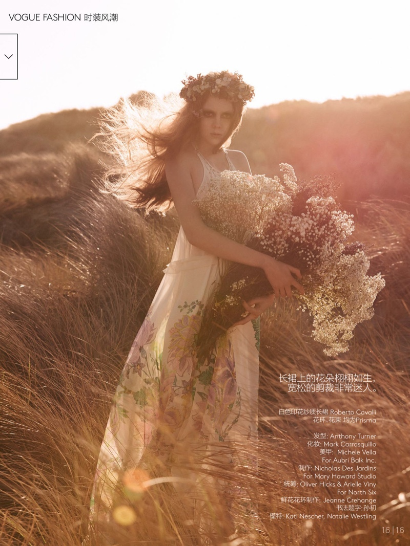 natalie kati mikael jansson14 Kati Nescher & Natalie Westling Are Nature Girls for Vogue China by Mikael Jansson