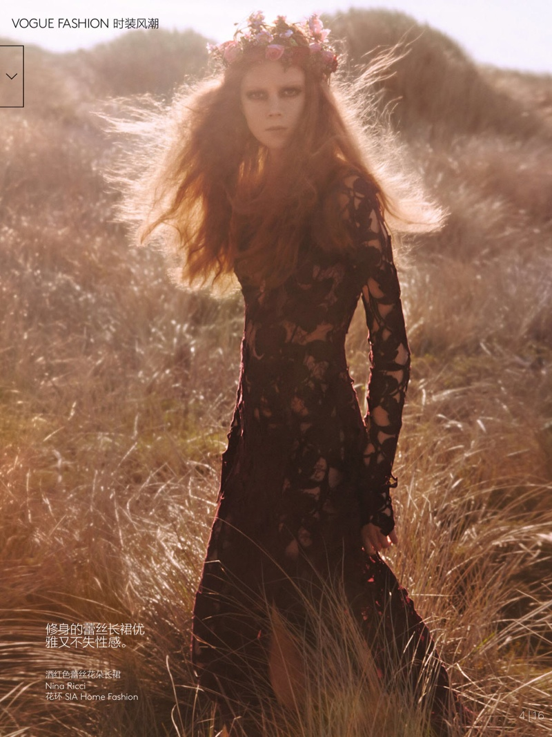 natalie kati mikael jansson3 Kati Nescher & Natalie Westling Are Nature Girls for Vogue China by Mikael Jansson