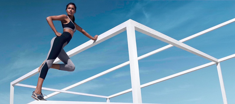 net a sporter campaign photos1 Nadia Araujo Wears Activewear Style in Net a Sporter Campaign by Hunter & Gatti