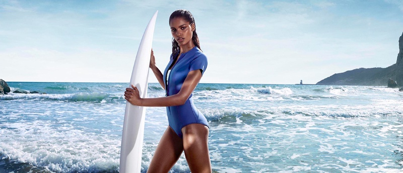 Nadia Araujo Wears Activewear Style in Net-a-Sporter Campaign by Hunter & Gatti