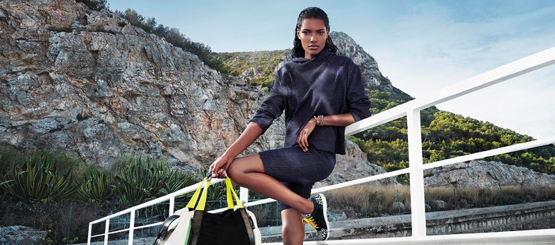 net a sporter campaign photos5 Nadia Araujo Wears Activewear Style in Net a Sporter Campaign by Hunter & Gatti