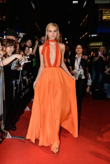 "Nicola Peltz Stuns in Prada Gown at ""Transformers: Age of Extinction"" Tokyo Premiere"