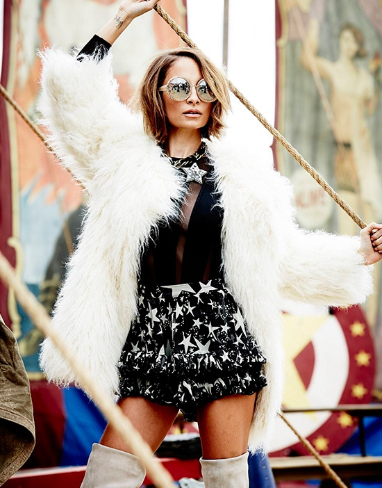 nicole richie 2014 1 Nicole Richie Joins the Circus for Elle Australia Cover Shoot