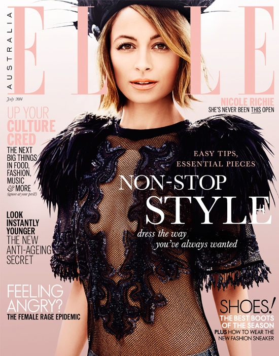 nicole richie 2014 5 Nicole Richie Joins the Circus for Elle Australia Cover Shoot