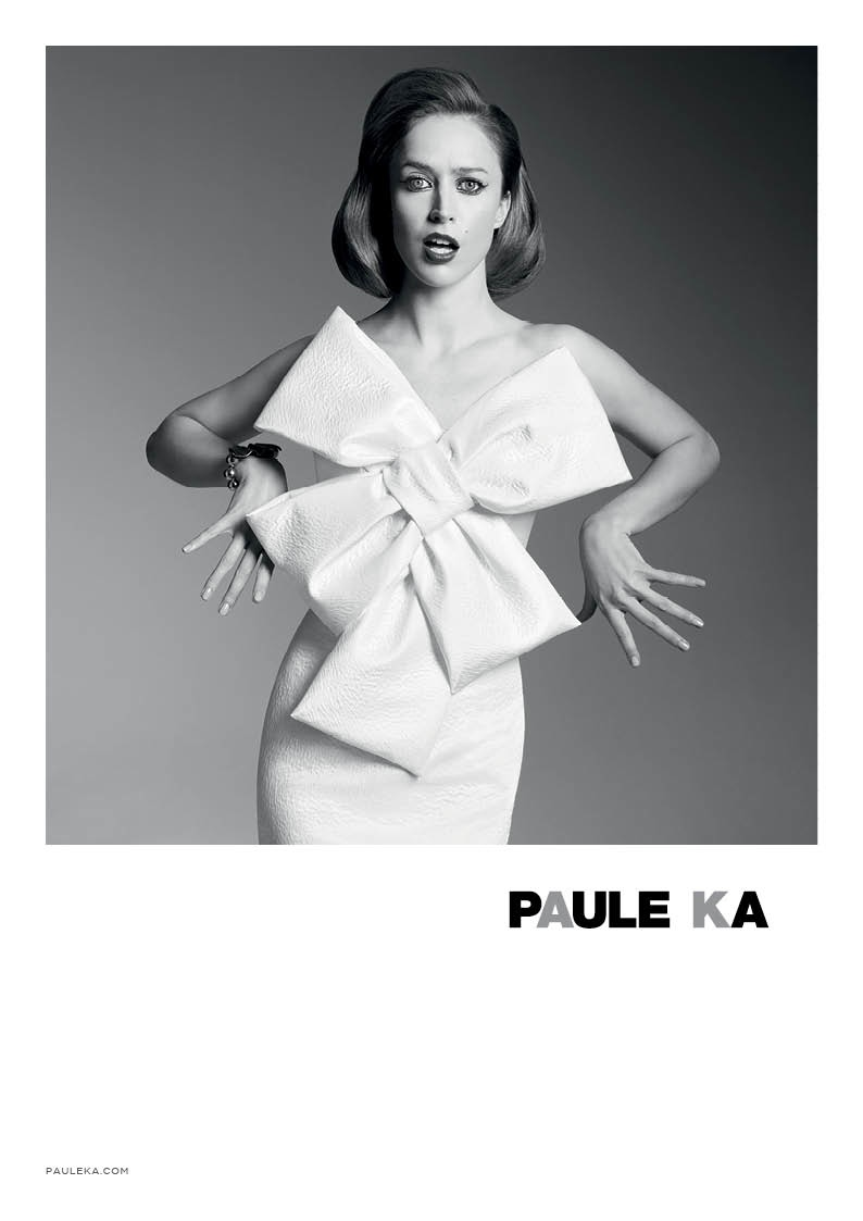 paule ka 2014 fall winter campaign1 Raquel Zimmermann is Character Driven for Paule Kas Fall 2014 Camapign