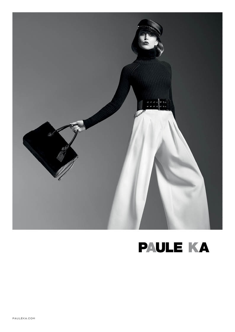 paule ka 2014 fall winter campaign2 Raquel Zimmermann is Character Driven for Paule Kas Fall 2014 Camapign
