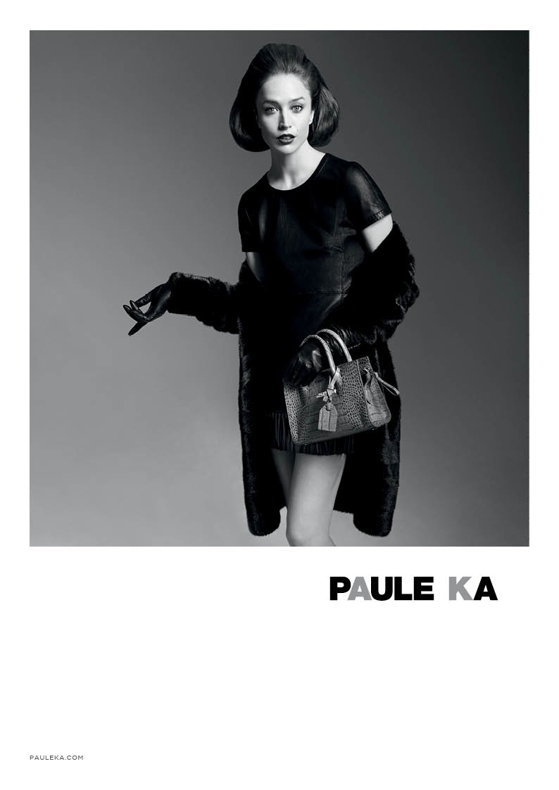 paule ka 2014 fall winter campaign3 Raquel Zimmermann is Character Driven for Paule Kas Fall 2014 Camapign