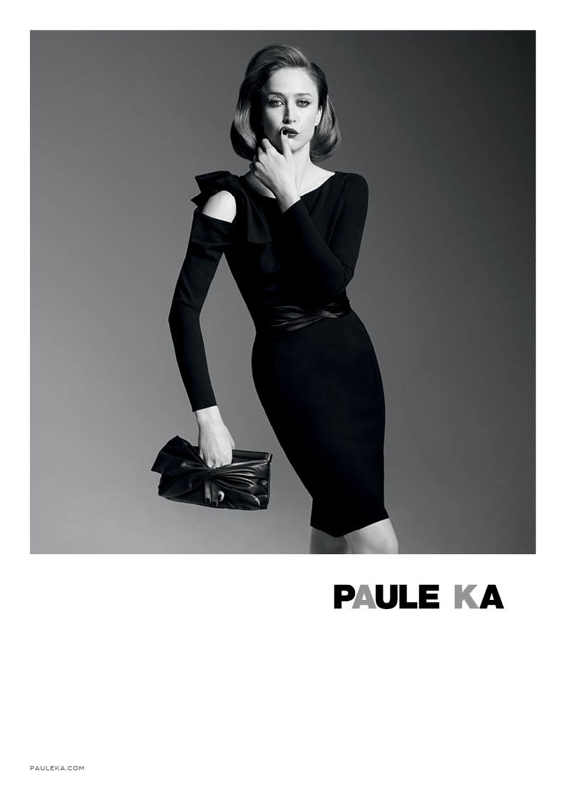 paule ka 2014 fall winter campaign4 Raquel Zimmermann is Character Driven for Paule Kas Fall 2014 Camapign