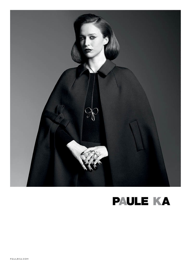 paule ka 2014 fall winter campaign5 Raquel Zimmermann is Character Driven for Paule Kas Fall 2014 Camapign