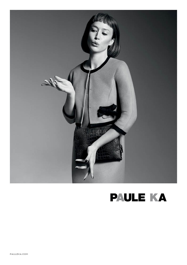 paule ka 2014 fall winter campaign6 Raquel Zimmermann is Character Driven for Paule Kas Fall 2014 Camapign
