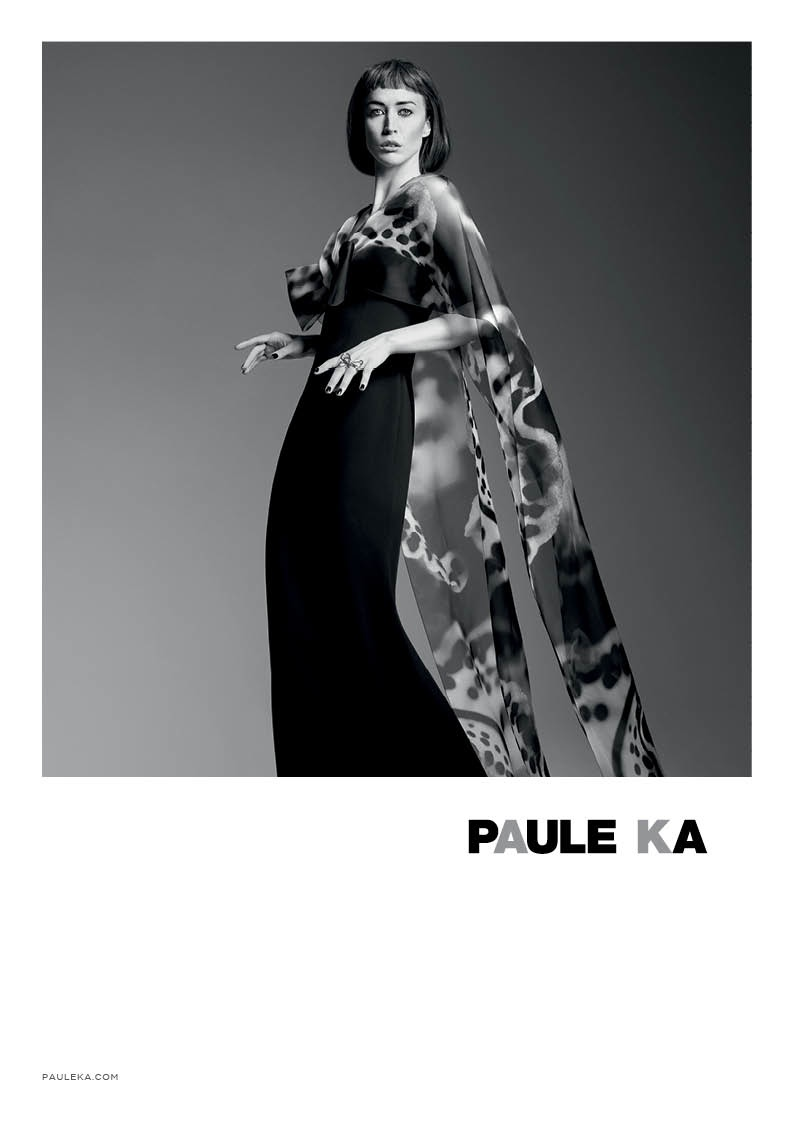 paule ka 2014 fall winter campaign7 Raquel Zimmermann is Character Driven for Paule Kas Fall 2014 Camapign