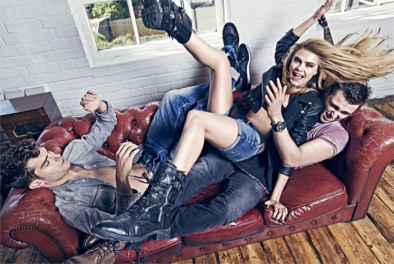 pepe jeans 2014 fall campaign cara delevingne3 Cara Delevingne Gets Playful in Pepe Jeans' Fall Ads