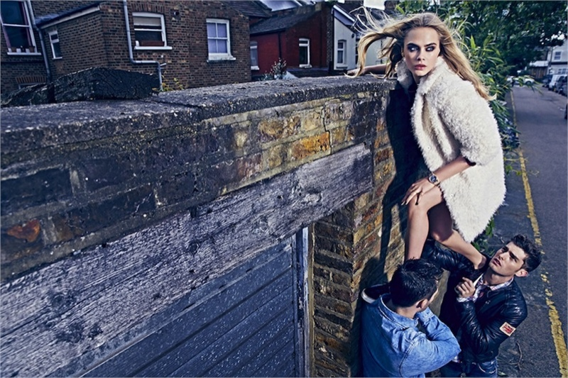 pepe jeans 2014 fall campaign cara delevingne6 Cara Delevingne Gets Playful in Pepe Jeans' Fall Ads