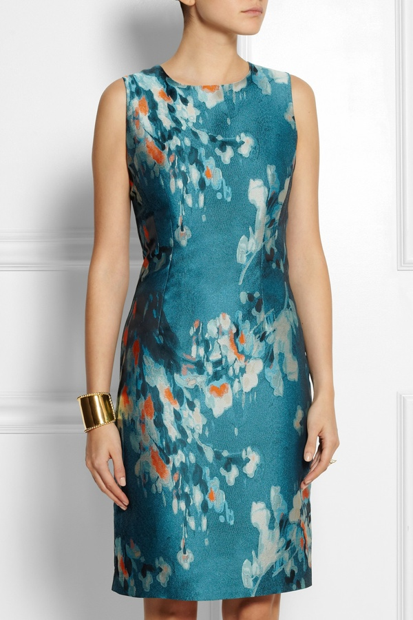 Philosophy Floral-jacquard pencil dress available at Net-a-Porter for $765.00